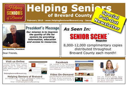 Helping Seniors Newsletter in Senior Scene Magazine
