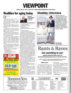Hometown News Helping Seniors - May 22 2015