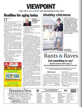 Hometown News Helping Seniors - May 22 2015