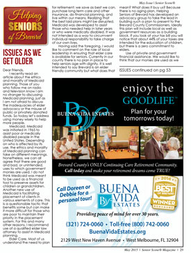 "Senior Scene ""Issues as We Get Older"" May 2015 Article"