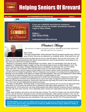 Helping Seniors Newsletter - July 2015