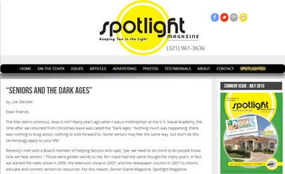Seniors and the Dark Ages - Spotlight Magazine