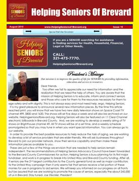 Helping Seniors Newsletter - August 2015