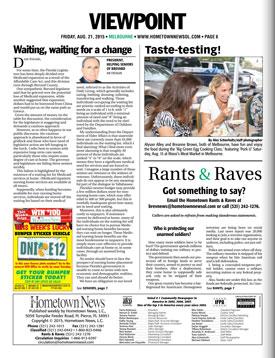 Helping Seniors in August 21 2015 Hometown News