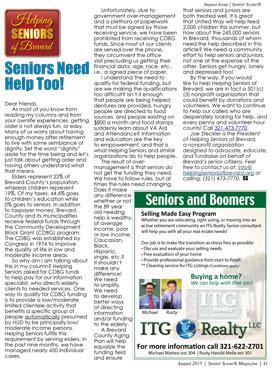 Senior Scene Aug 2015 Helping Seniors
