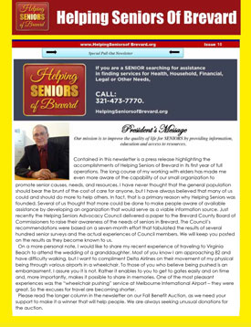 Helping Seniors September 2015 Newsletter