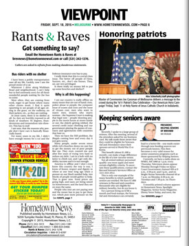 Keeping Seniors Aware - Hometown News 09/18/15