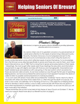 Helping Seniors Newsletter - October 2015