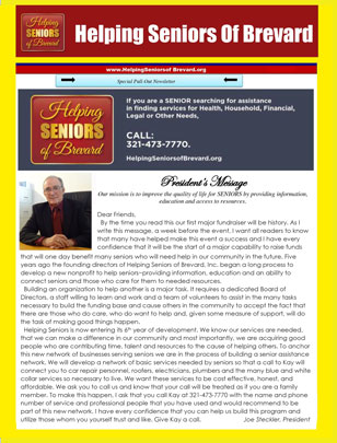 Helping Seniors November 2015 Newsletter