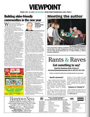 Building Elder Friendly Communities - Hometown News