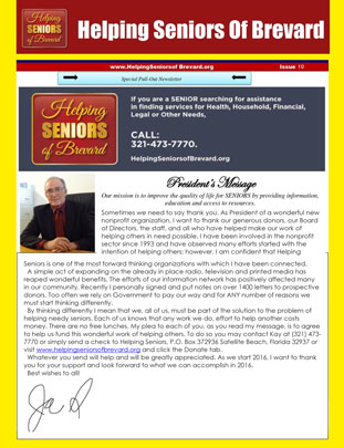 Helping Seniors Newsletter - January 2016