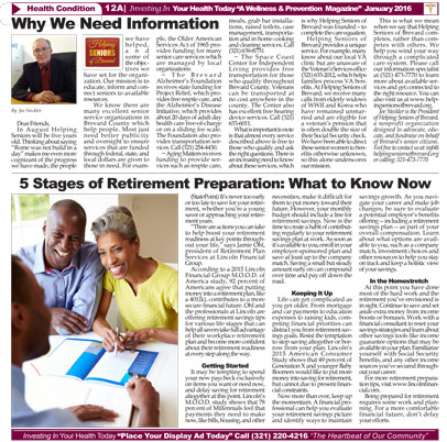 Helping Seniors in Ebony News Today - January 2016