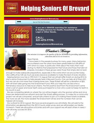 Helping Seniors Newsletter - February 2016