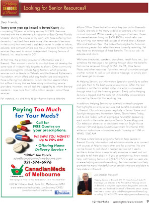 April 2016 Spotlight Magazine Helping Seniors