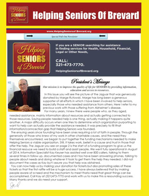 Helping Seniors - April 2016 - Newsletter