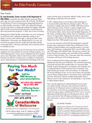 June-2016 Spotlight Magazine - Helping Seniors