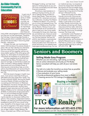 June 2016 Senior Scene Article (Elder Friendly Community Part II Education)