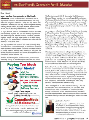 Helping Seniors in Spotlight Magazine - July 2016