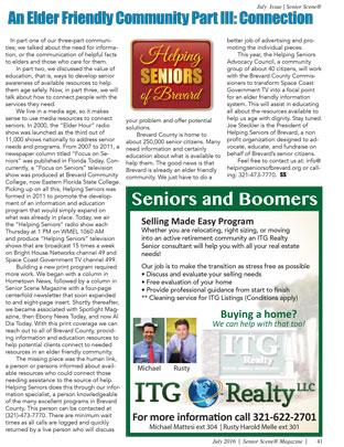 Helping Seniors Article (Senior Scene July 2016)