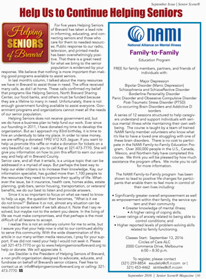 Helping Seniors in Senior Scene - September 2016