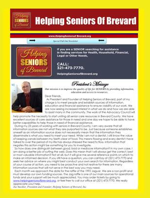 Helping Seniors - Senior Scene - Sep 2016