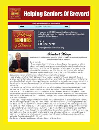 October 2016 - Helping Seniors Newsletter