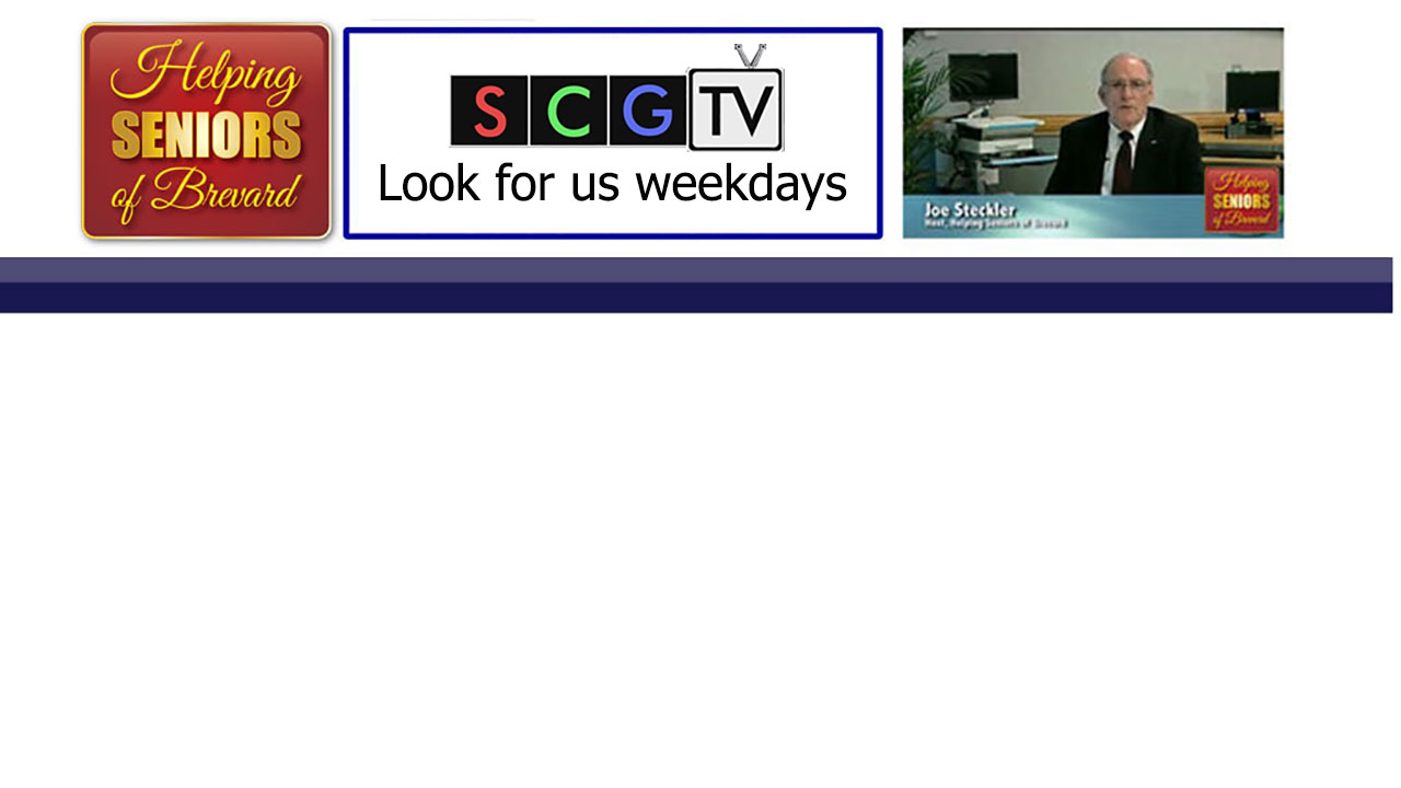 Helping Seniors TV on Space Coast Government TV
