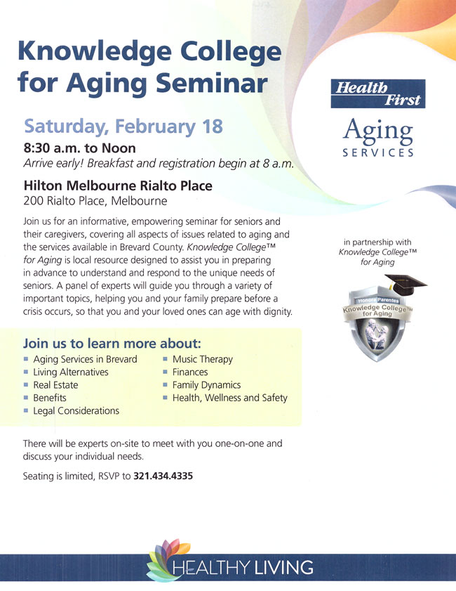 Knowledge College for Aging Seminar