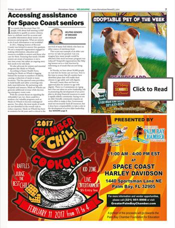 Hometown News Helping Seniors Article