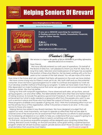 Helping Seniors February 2017 Newsletter