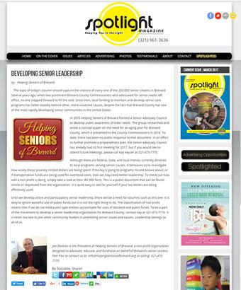 Helping Seniors in SpotlightBrevard.com