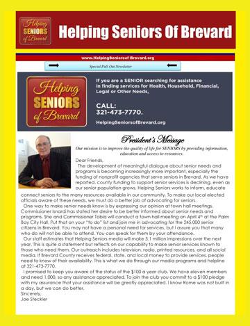 Helping Seniors April 2017 Newsletter