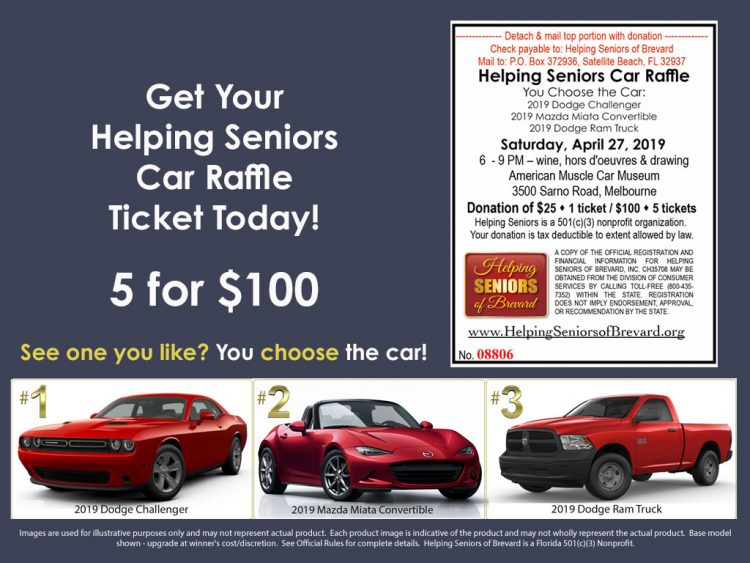 Helping Seniors Car Raffle Ticket - 5 for $100