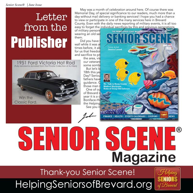 Letter from the Publisher - Senior Scene Magazine