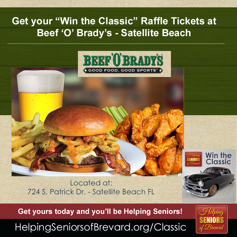 Get tickets at Beef O' Brady's