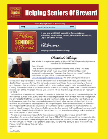 Helping Seniors - July 2017 Newsletter