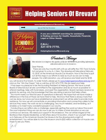 Helping Seniors Newsletter in Senior Scene Magazine