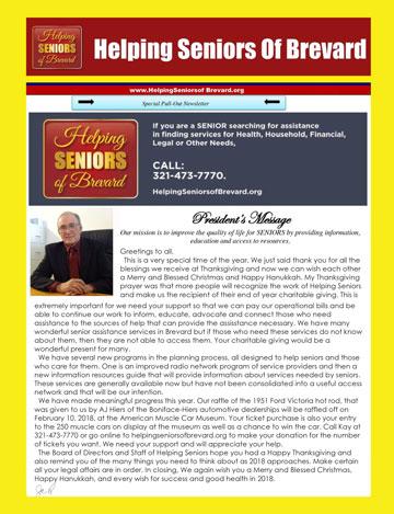 December 2017 Helping Seniors Newsletter