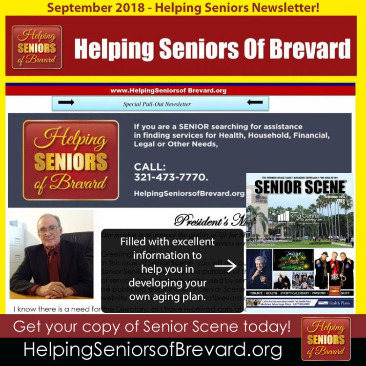 Helping Seniors - September 2018 Newsletter