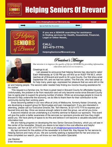 Helping Seniors December 2018 Newsletter