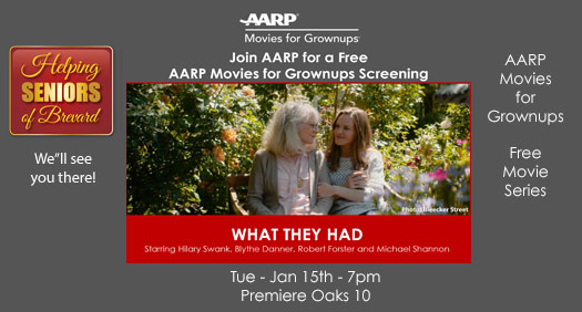 Join AARP for a Free AARP Movies for Grownups Screening.