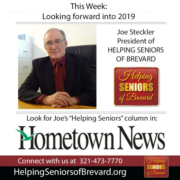 Helping Seniors in Hometown News - Looking forward into 2019