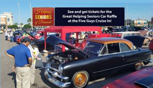 Helping Seniors Car Raffle at Five Guys Cruise In