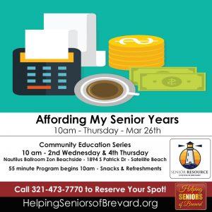 Affording My Senior Years Workshop
