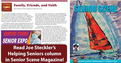 March 2020 Joe Steckler in Senior Scene