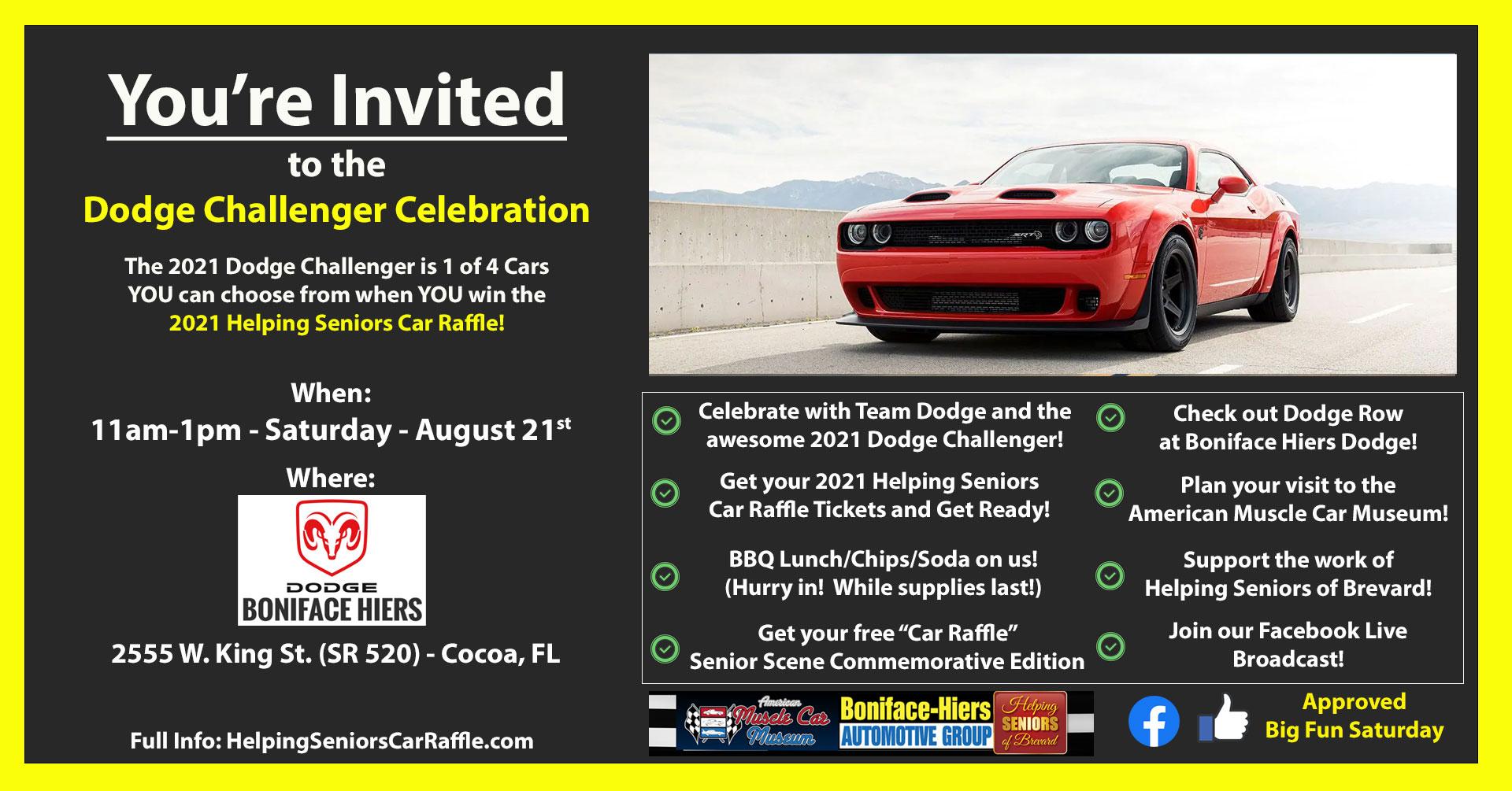 August 21st - Dodge Challenger Celebration