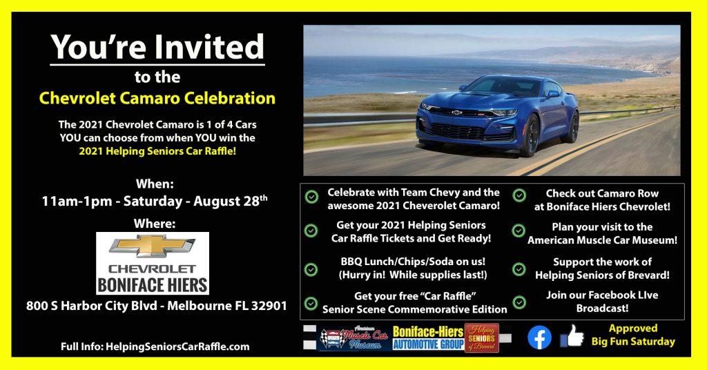 August 28th - Chevrolet Camaro Celebration